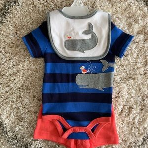 Starting Out 3 M Matching Onesie, Shorts and Bib